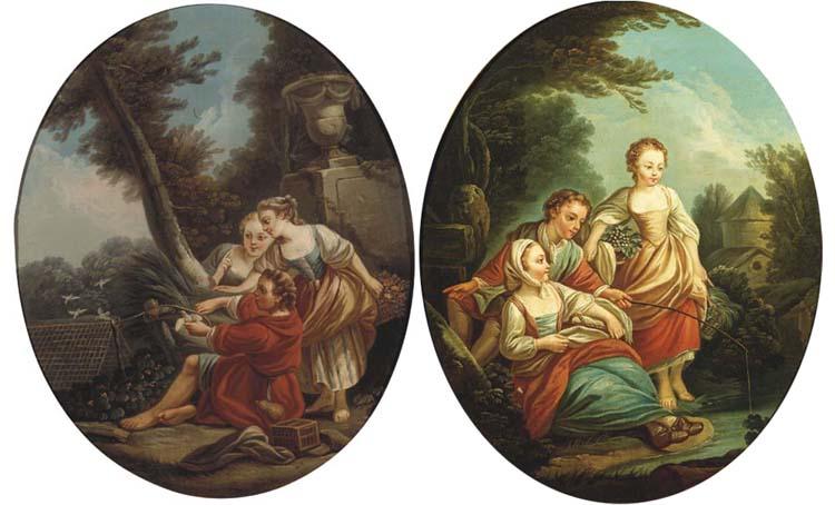 (a pair)  Manner of François Boucher