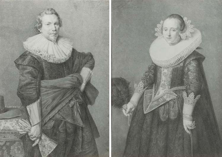 (a pair) Jan Gerard Waldorp (Dutch, 1740-1808), after Michiel van Miereveldt