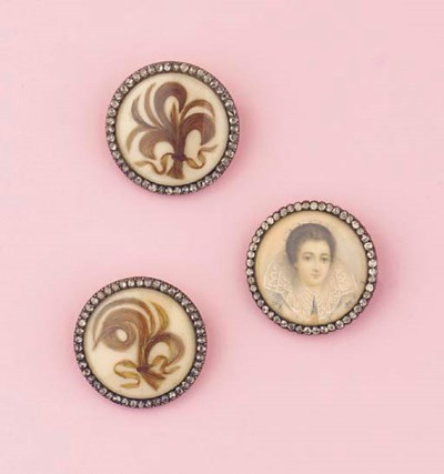 (3)  THREE ANTIQUE DIAMOND MEM