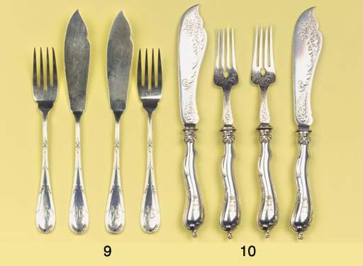 (24) Twelve German silver fish