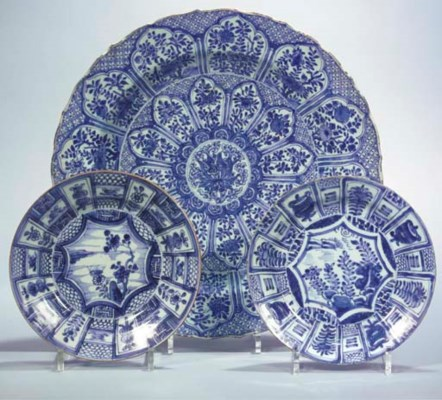 (3)  A CHINESE BLUE AND WHITE