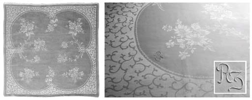 (14) A set of twelve damask li