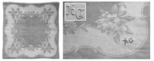 (17) A set of sixteen damask l