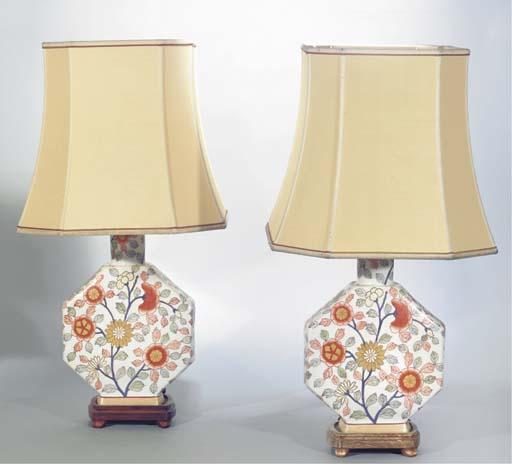 (2)  A pair of vitreous porcel
