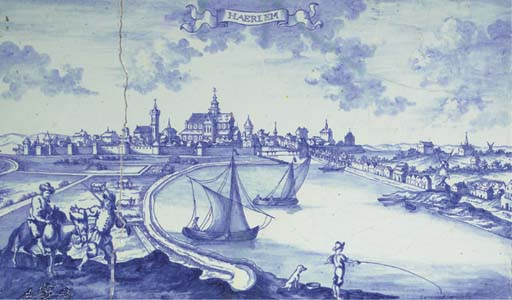 A Delftware blue and white top