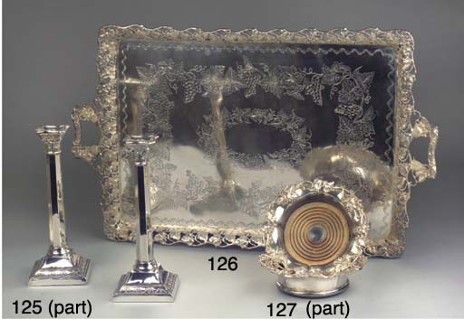 (6)  A pair of English silver