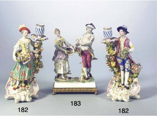 A German porcelain ormolu-moun