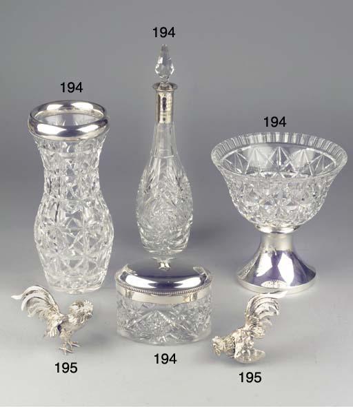 (5)  Four German silver-mounte
