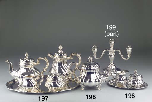 (6) A German silver teaservice