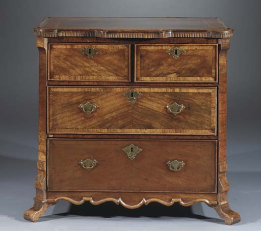 A DUTCH SATINWOOD COMMODE