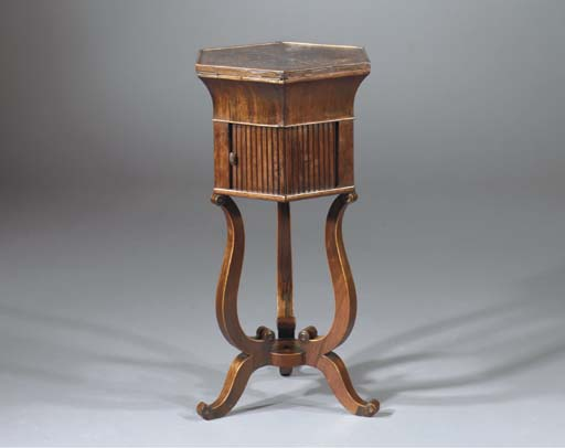 A FRENCH ROSEWOOD, FRUITWOOD A