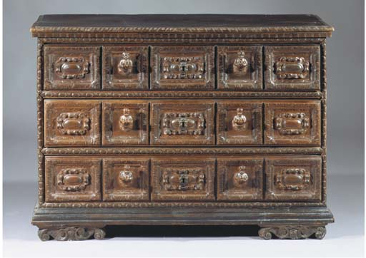AN ITALIAN STAINED FRUITWOOD C