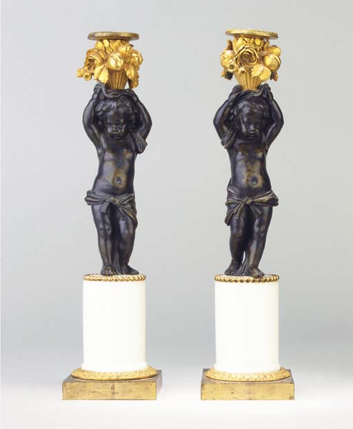 (2) A PAIR OF LOUIS XVI ORMOLU