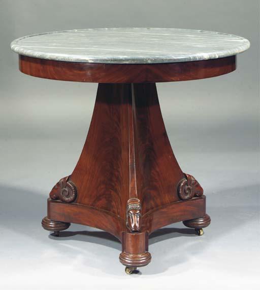 A RESTAURATION MAHOGANY TABLE