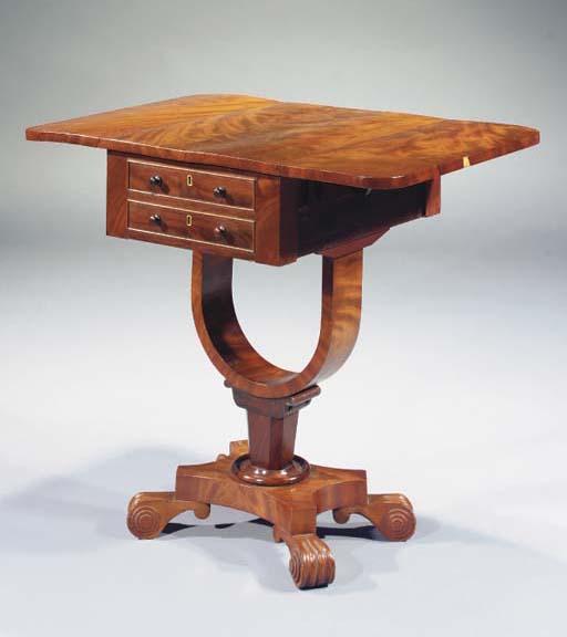 AN ENGLISH MAHOGANY WORK-TABLE