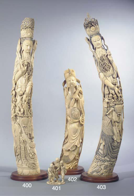 A Japanese ivory group, Okimon