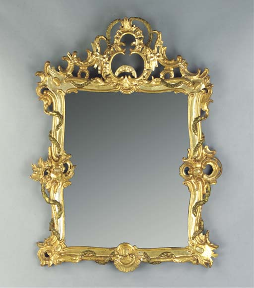 A GERMAN GILTWOOD AND PARCEL-S