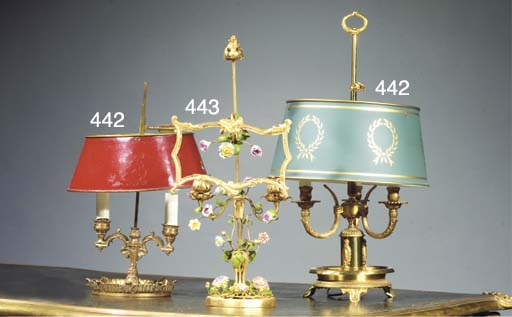 (3) A FRENCH GILT-METAL AND SO