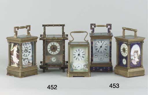 (3)  Three carriage clocks wit