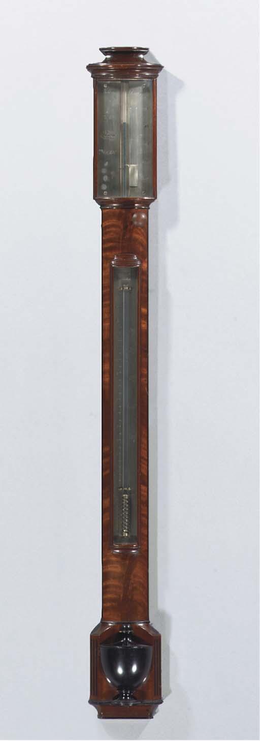 An English mahogany, ebony inl