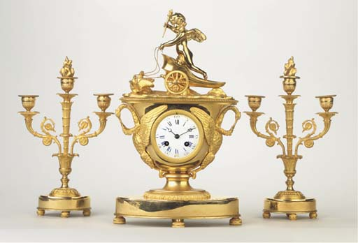 (3)  A ormolu striking mantel