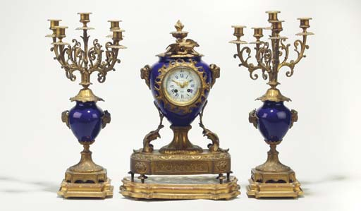 (3 + plinths) A French gilt-me