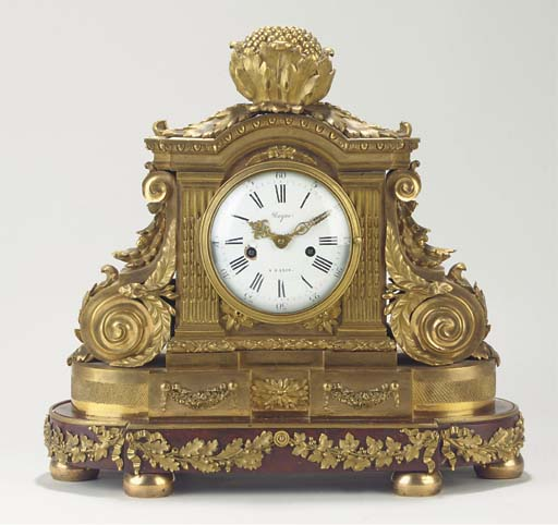 A French ormolu and rouge grio