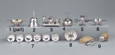 Six Dutch silver miniature bow