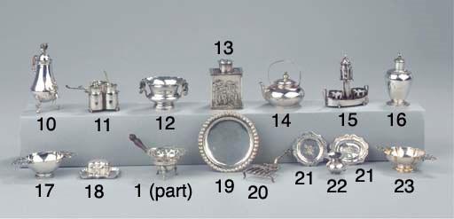 A Dutch silver miniature biscu