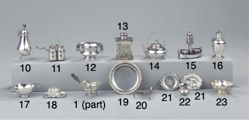 A Dutch silver miniature trive