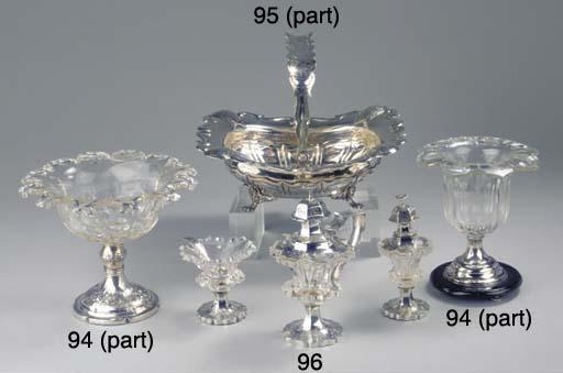 A Dutch silver cake basket and