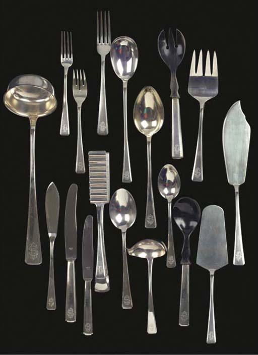 (450)  An extensive German silver flatware service