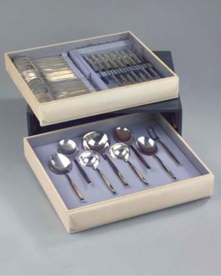 (55) A Dutch silver flatware s