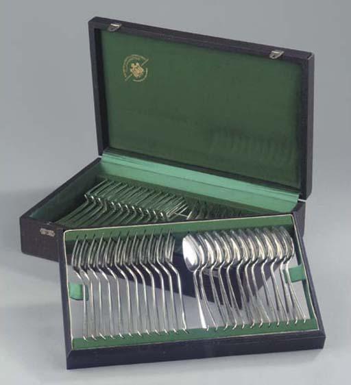 (49) Twelve Dutch silver table