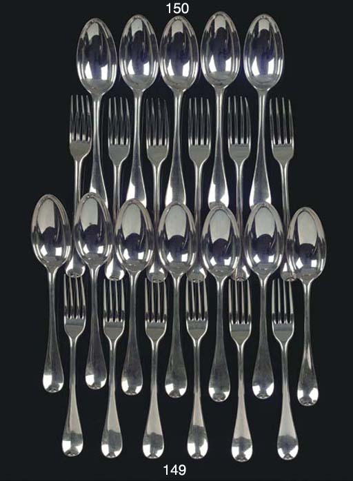 Six Dutch silver table spoons