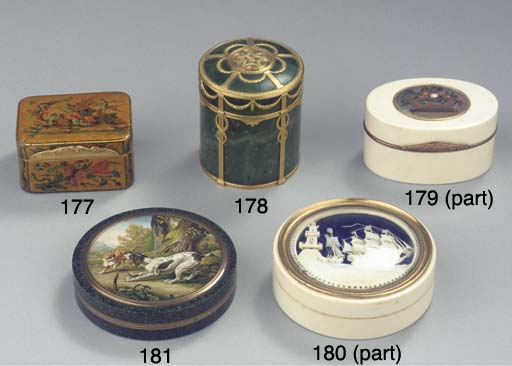 Four various snuff-boxes and a