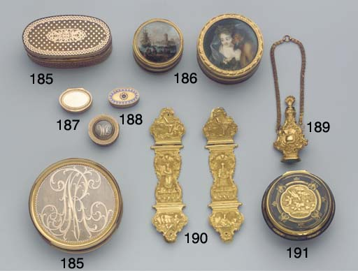 Two French gold-mounted and to