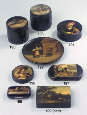 A German Stobwasser box and a