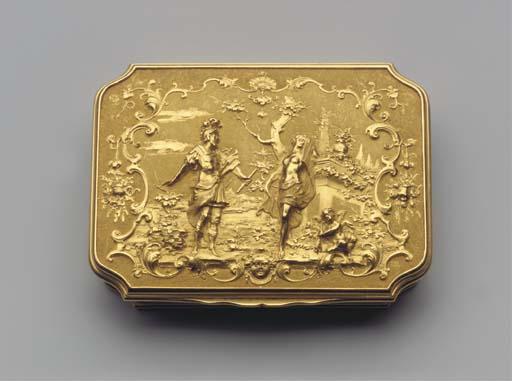 A magnificent Dutch gold box