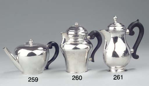 An Austrian silver teapot