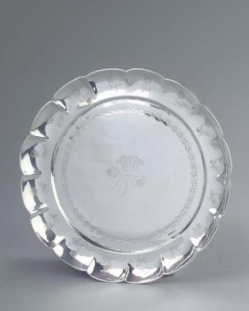 A Mexican silver salver