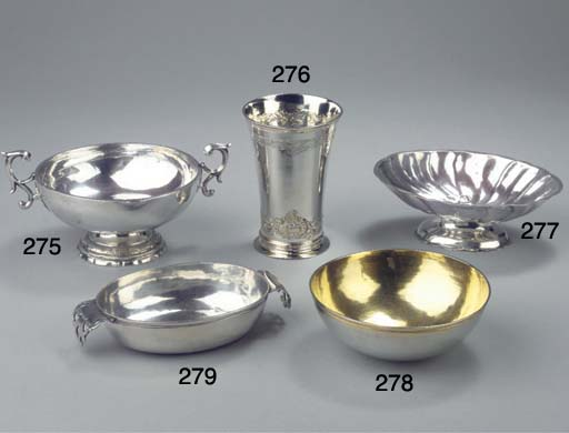 A German silver brandybowl