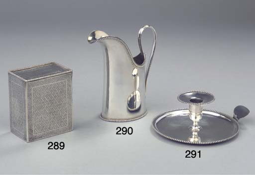 A Dutch silver flat candlestic