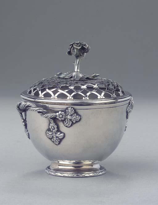 A rare Dutch silver potpourri