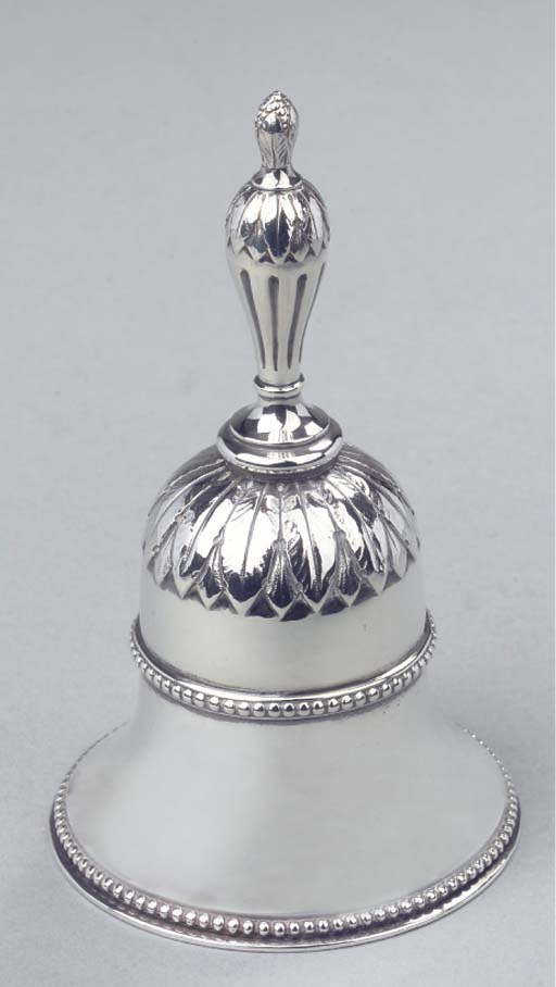 A Dutch silver table bell