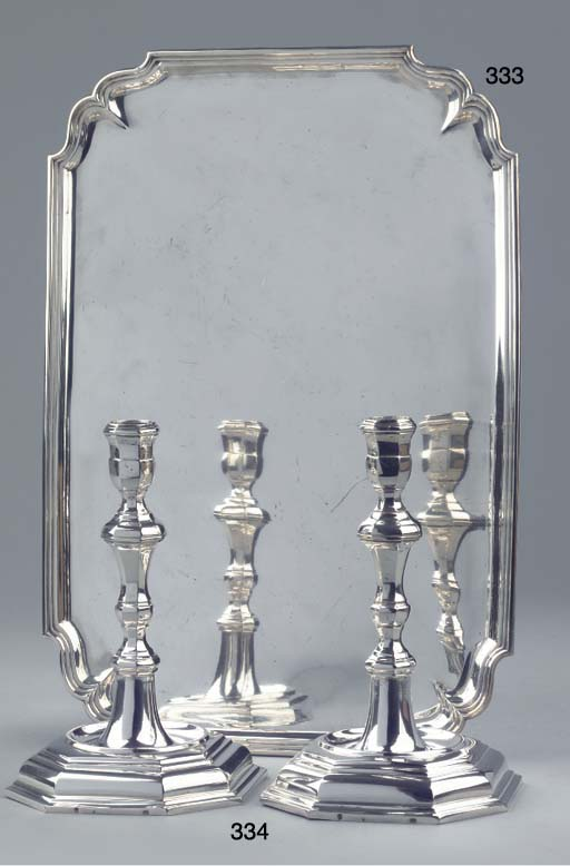 A large Dutch silver salver