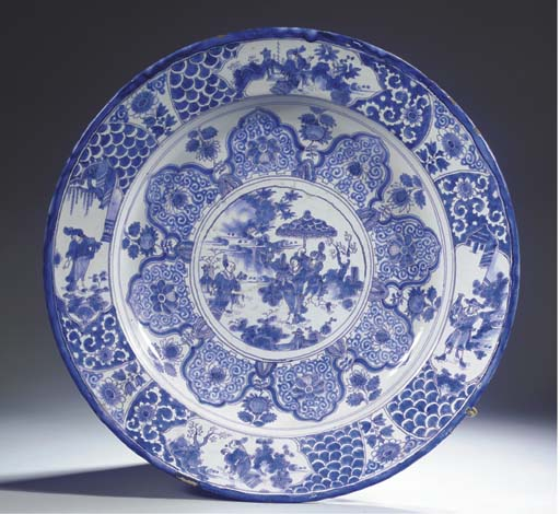 A very large Dutch Delft blue