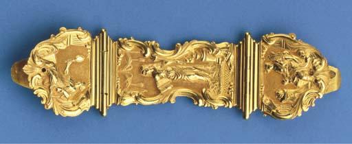 A Dutch gold bible clasp