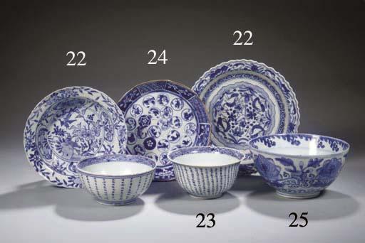 A rare blue and white Shonzui-
