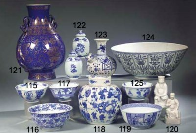 A Japanese blue and white kend